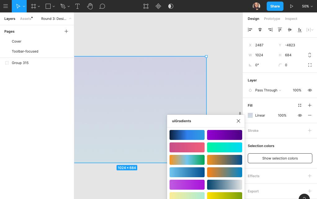 Screenshot of Figma interface